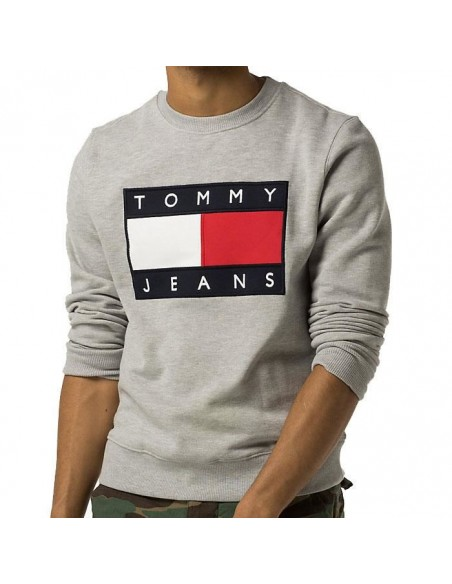 Sweat pull Tommy Hilfiger gris